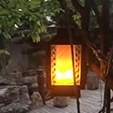 Bulary Solar Flame Lights LED Flame Wall Lamp Outdoor Waterproof Lawn Torch Lamp Hanging Decorative Lighting for Festival Garden Lawn Landscape Fence Street De