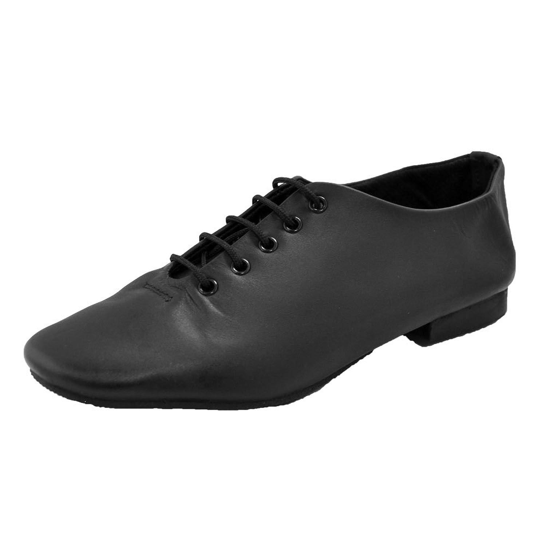 Starlite Black Full Rubber Sole Jazz Shoe