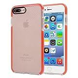 5,5 pulgadas para el iPhone caso, Para iPhone 7 Plus funda protectora TPU transparente de textura a cuadros (5,5 pulgadas) ( Color : Orange )