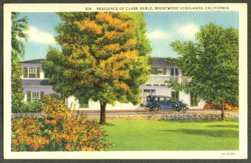 Clark Gable Home Brentwood Highlands CA postcard - Ca Brentwood