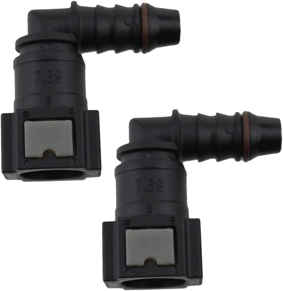 ID8 Male and Straight Nylon Fuel Line Quick Connect Release Hose Replacement Female Connector Carkio 7.89mm SAE 5//16 8mm