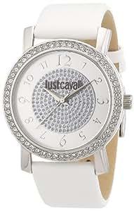 Just Cavalli R7251103503 - Reloj analógico de cuarzo para mujer con correa de piel, color blanco