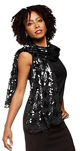 Joan Rivers Metallic Glam Sequin Scarf (One Size, Rose (Joan Rivers Rose)