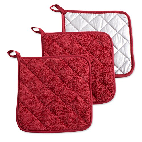 """DII Cotton Terry Pot Holders, 7x7""""  Set of 3, Heat for sale  Delivered anywhere in Canada"""
