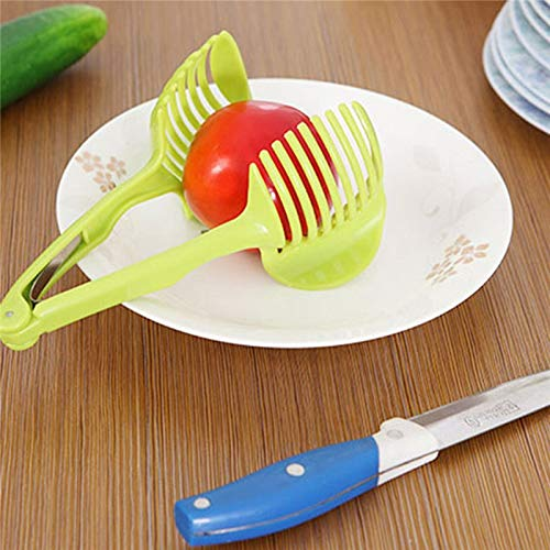 - FIOLTY Multifunction Handheld Cooking Tools Vegetable Fruit Potato Tomato SLR slrs Cutting as Food Tong: Green