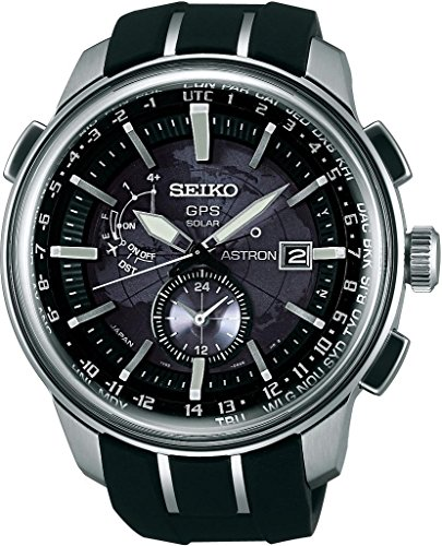 Seiko Astron SAS031J1 GPS solar watch GPS reception for time and timezone