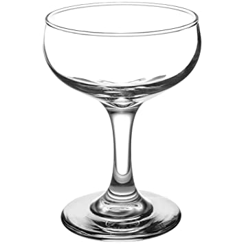 93c74781d59 Set of 4, Libbey 3773 Embassy 5.5 oz Champagne Glass w/Signature Party  Picks: Amazon.co.uk: Kitchen & Home