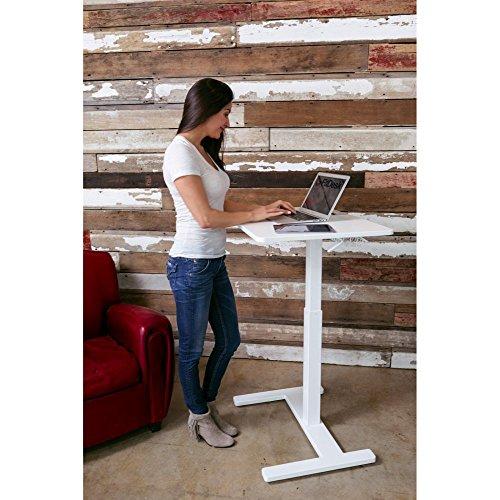 FitDesk Sit-to-Stand Desk, White