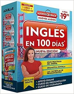 Inglés En 100 Días - Curso de Inglés - Audio Pack Libro + 3 CDs Audio / English in 100 Days Audio Pack: Amazon.es: Aguilar: Libros