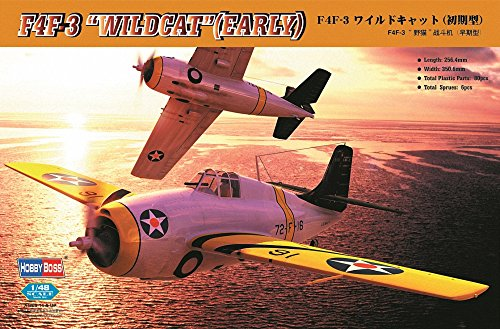 Hobby Boss F4F-3 Wildcat (Early) Airplane Model Building - Wasp Uss Aircraft Carrier