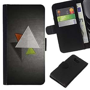 Planetar® Modelo colorido cuero carpeta tirón caso cubierta piel Holster Funda protección Para Samsung ALPHA / SM-G850 / S801 ( Minimalist Triangles )