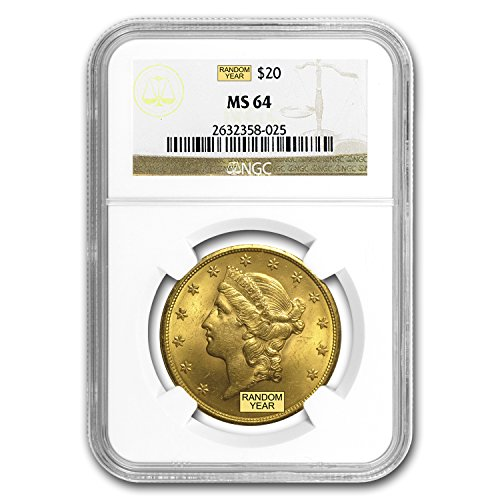 1850 – 1907 $20 Liberty Gold Double Eagle MS-64 NGC G$20 MS-64 NGC
