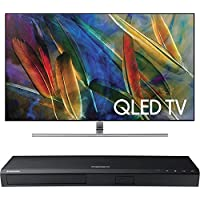 Samsung QN65Q7F Flat 65-Inch 4K Ultra HD Smart QLED TV w/ Samsung 3D Wi-Fi 4K Ultra HD Blu-ray Disc Player