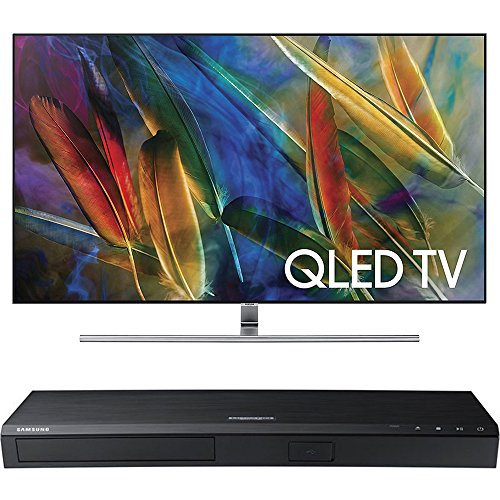 Samsung QN65Q7F Flat 65-Inch 4K Ultra HD Smart QLED TV w/ Samsung 3D Wi-Fi 4K Ultra HD Blu-ray Disc Player (Samsung 65 Inch Curved 3d Tv)