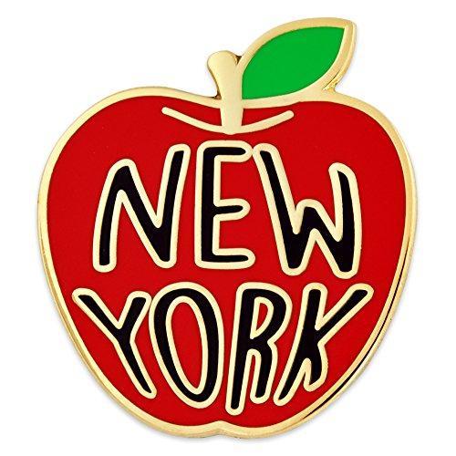 (PinMart New York Big Apple Jewelry Souvenir Enamel Lapel)