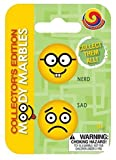 Collector's Edition Moody Marbles (Set of 2), Nerd and Sad by Mega Fun USA