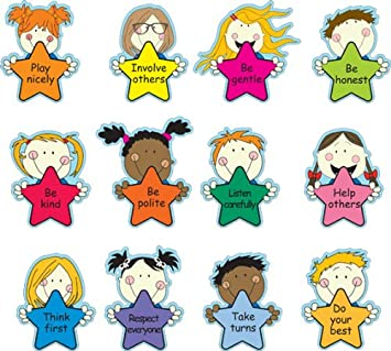 Upson Downs School Rules Star Characters Set Of 12 Signs Set Of 12, Each Measuring Approx 30cm