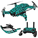MightySkins Skin For DJI Max Coverage - Teal Leopard | Protective, Durable, and Unique Vinyl Decal wrap cover | Easy To Apply, Remove, and Change Styles | Made in the USA