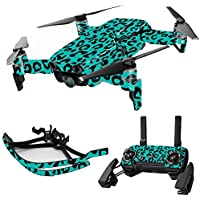 MightySkins Skin for DJI Mavic Air Drone - Teal Leopard | Max Combo Protective, Durable, and Unique Vinyl Decal wrap cover | Easy To Apply, Remove, and Change Styles | Made in the USA