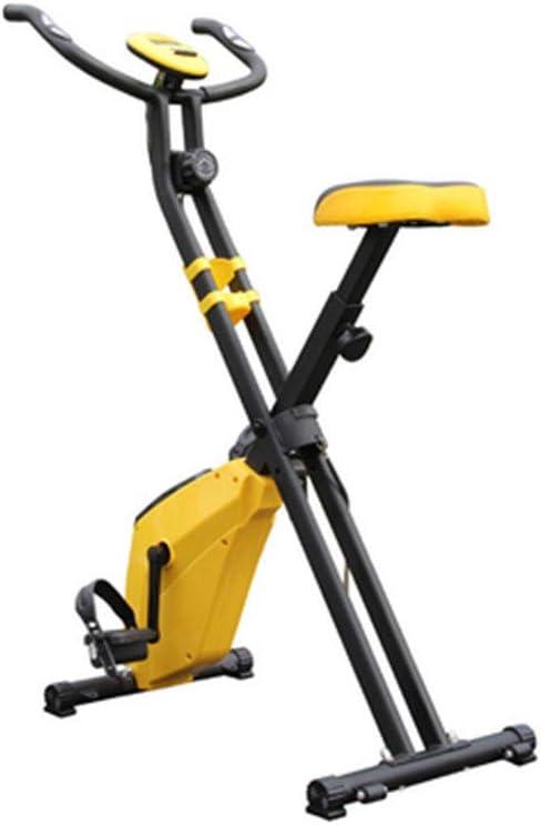 MIAO Equipo de Ejercicios para el hogar Bicicleta de Ejercicio Ultra silenciosa Deportes para Interiores Bicicleta para Adelgazar,Yellow-OneSize: Amazon.es: Hogar