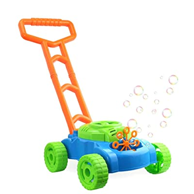 Children's Trolley Outdoor Blowing Bubble Toy Automatic with Music Blowing Bubble Tank Car Kindergarten Bubble Machine Toy : Baby