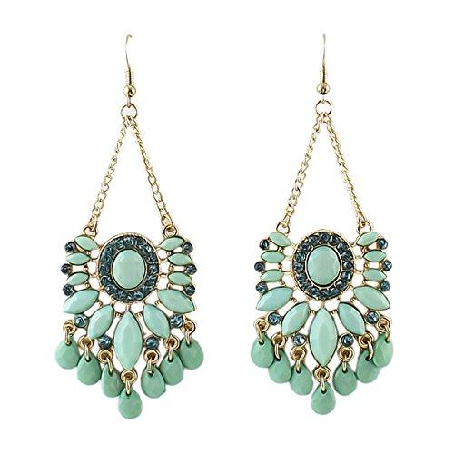 Earrings Bohemian Imitation Gemstone Chandelier