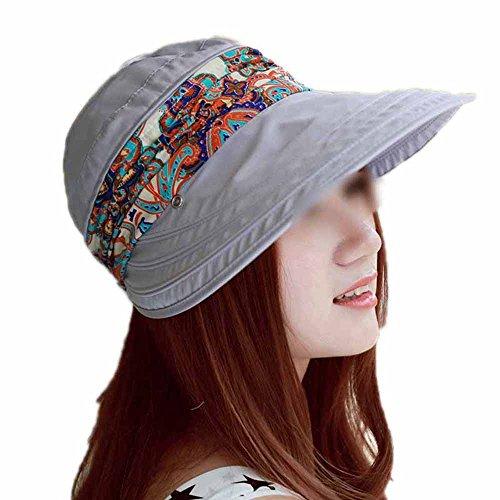 LOVEHATS Fahion Women Lady Girls Summer Hats Beach Hat Sun Visor Hat Visor Sun Hats grey