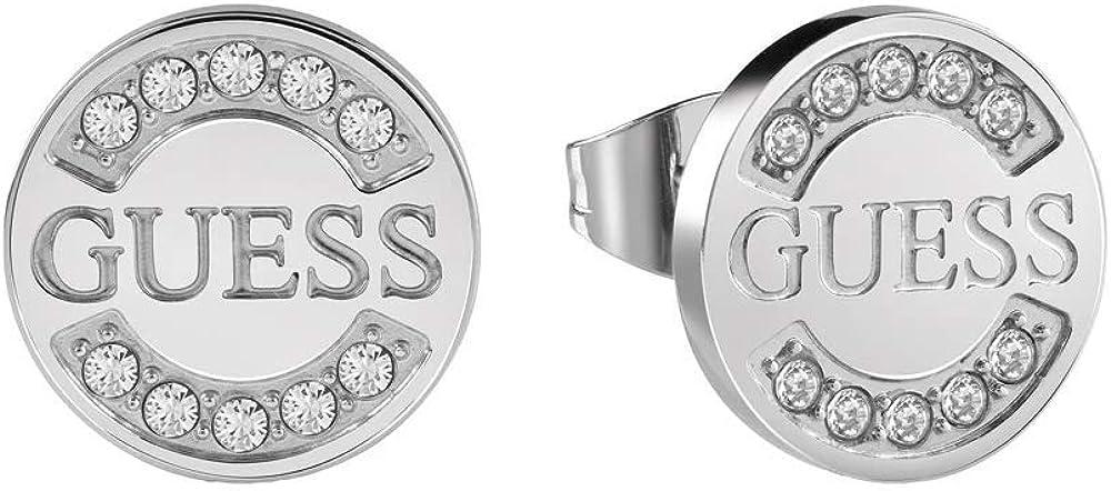 Guess Pendientes de botón Mujer chapado en plata - UBE28028