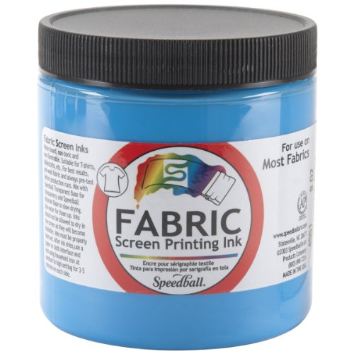 Speedball Art Products Fabric Screen Printing Ink, 8-Ounce, Peacock (Printing Supplies)