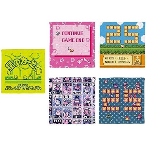 バンプレスト Kirby Star Ichiban kuji pupupu Collection 25th G History Towel x5