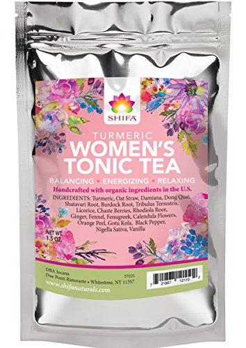 Shifa Women's Turmeric Tonic Tea with Herbs, Phytonutrients, and Antioxidants (1.5 oz.)