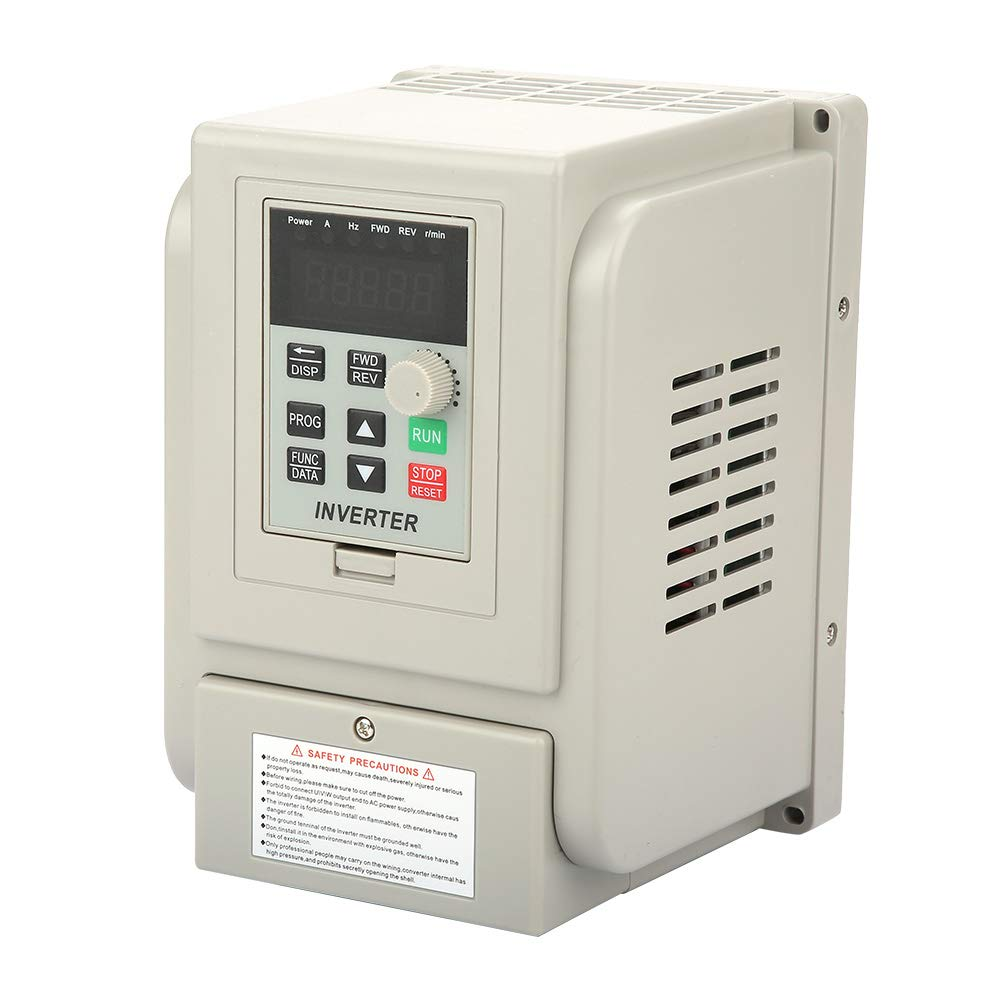 2 2kW VFD Drive Inverter, 220V AC Single-Phase Variable Frequency Drive  Inverter, Walfront VFD Speed Controller Inverter for 3-Phase Motor