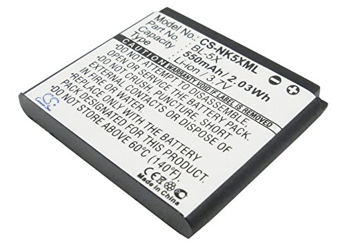 Replacement Battery Part No.BL-5X for Nokia 8800,8800 Sirocco,8801,Mobile,Smartphone Battery