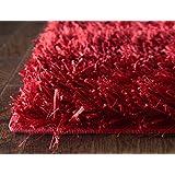 iCustomRug Best Indoor Fluffy Shag Area Rug 8ft0in x 10ft0in (8'x10') Mercedes In Red