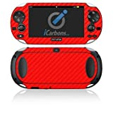iCarbons Red Carbon Fiber Vinyl Skin for PS Vita Playstation by iCarbons Inc.