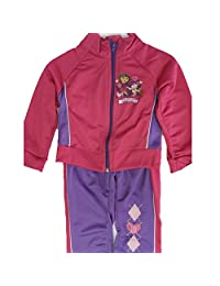 Disney Little Girls Pink Purple Dora the Explorer Zipper 2 Pc Pants Set 2T-4T