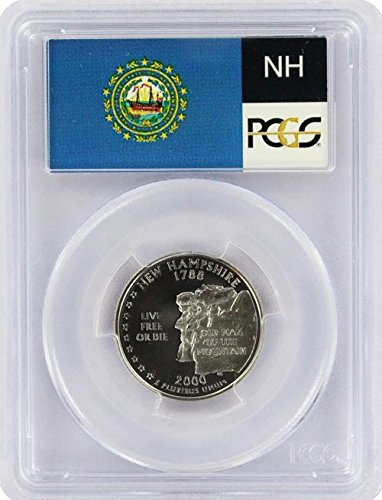 2000 New Hampshire State S Silver Proof Quarter PR-69 PCGS ()