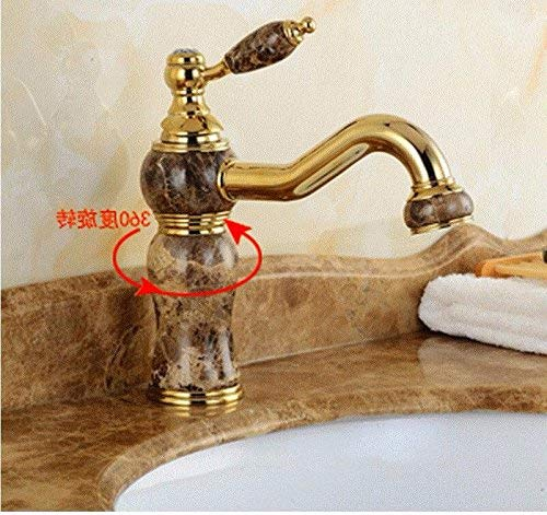 Oudan Washbasin Hot And Cold Jade Bathroom Single Hole Single Handle Blender redate Copper Sink Taps