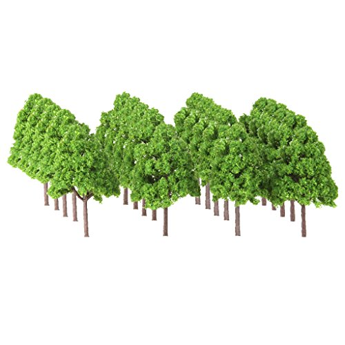 Perfeclan 樹木  モデルツリー 木 Nゲージ用 電車模型 鉄道模型 村の風景 建築模型 Nゲージ 鉄道レイアウトウォーゲーム 約 25個の商品画像