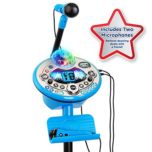 VTech Kidi Star Karaoke System 2 Mics with Mic Stand & AC Adapter, Blue by VTech (Image #7)