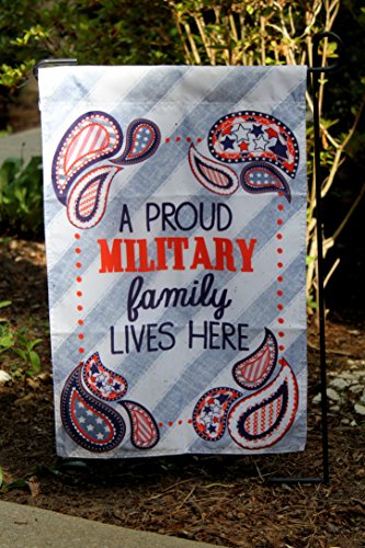 Uniformed Scrapbooks Proud Military Family Lives Here 13x18 Garden Flag and Yard Banner