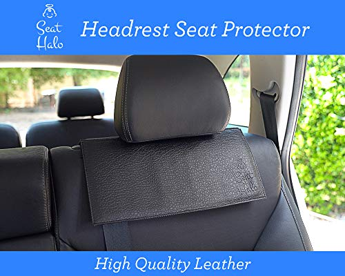 - Seat Halo Patented Car Seat Protector for Headrest Area, Protects from Tether Damage, Must Have for New Parents, Thickest Padding Covers to Protect Head Rest Area Leather and Upholstery