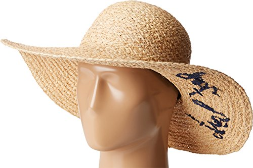 Hat Attack What's Your Motto Sun Hat Natural/Navy Get Lost Caps