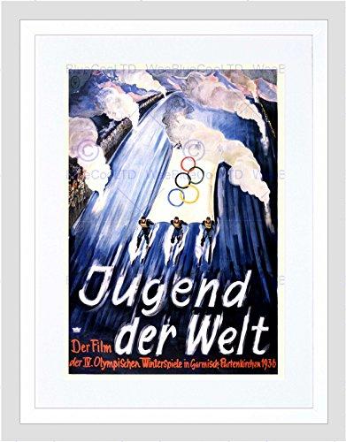 Toy Olympic Rings - MOVIE FILM SPORT WINTER OLYMPICS GERMANY 1936 SKI RING FRAMED ART PRINT B12X5579