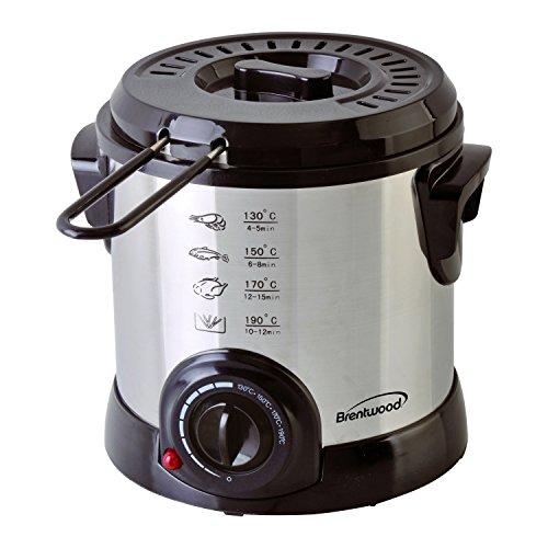 Brentwood DF-701 Electric, 1-Liter, Stainless Steel Deep Fryer, 1 Liter.