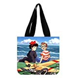 Kiki's Delivery Service Custom Women's Fashion Tote Bag Canvas Shopping Shoulder Bag