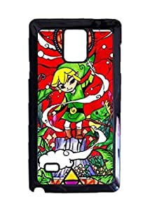 Engood Design Legend of Zelda Wind Waker Stained Glass Case Durable Unique Design Hard Back Case Cover For Samsung Galaxy Note 4 New