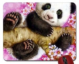 Panda en primavera alfombrilla de ratón