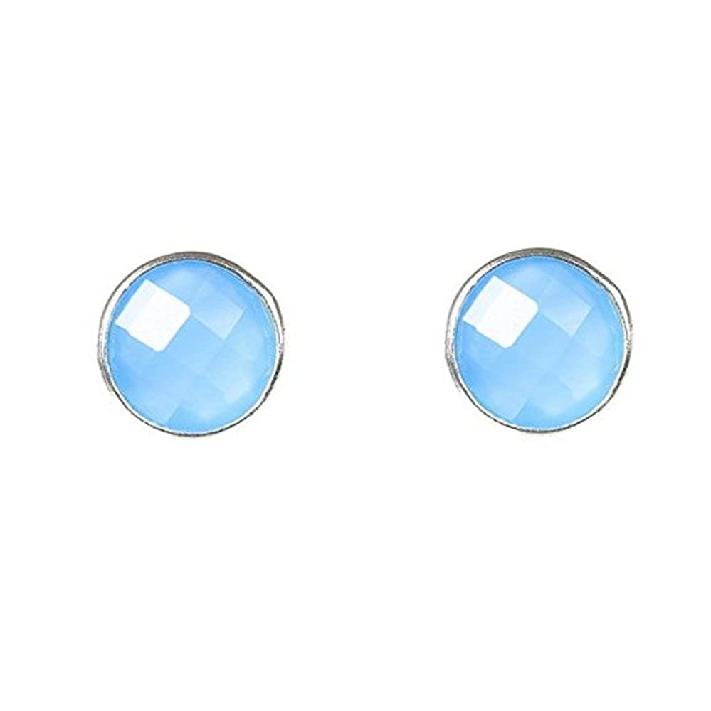 Nathis Chalcedony Stud Earrings