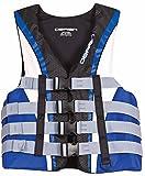 O'Brien Men's 4 Buckle Nylon Pro Life Vest (Blue/White/Black, XX-Large, Chest 48-52-Inch)